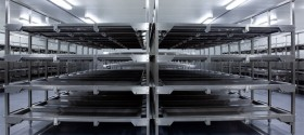 The storage room for up to 500 body trays
