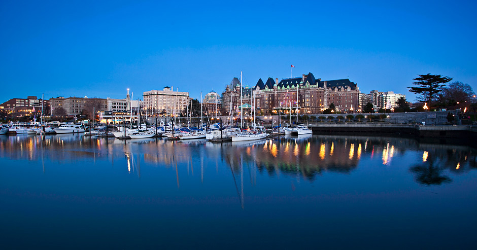 Beautiful Victoria Waterfront On Vancouver Island