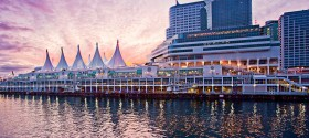 The iconic Vancouver cruise ship terminal named 'Canada Place'